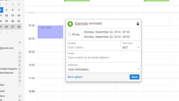 Evernote is a great app for scheduling your work