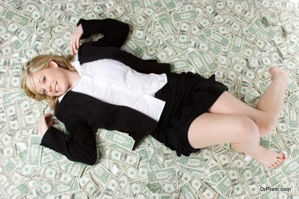 lady handling cash flow