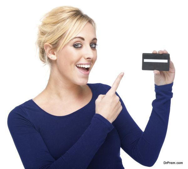 holding credit card