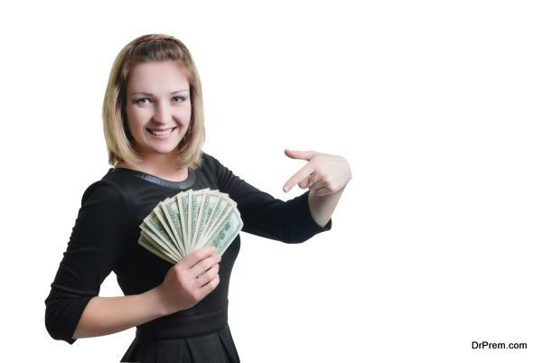 girl and money
