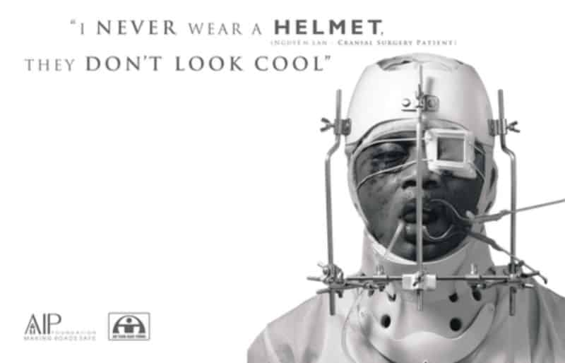 Photo of Asia Injury Prevention Foundation: I don't wear a helmet, it makes me look stupid
