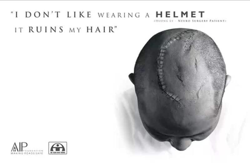 I don't wear a helmet, it makes me look stupid