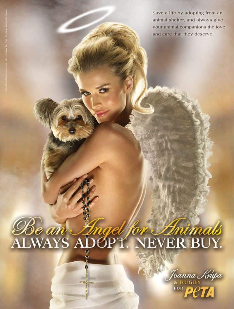 Even angels are naked in PETA ad