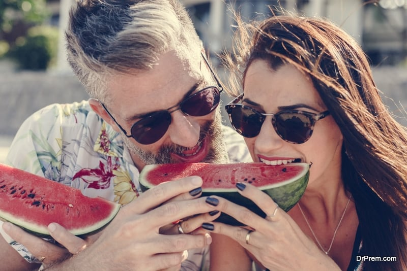 Ripe watermelon is refreshing and hydrating