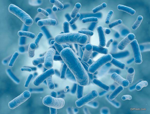 spread of bacteria