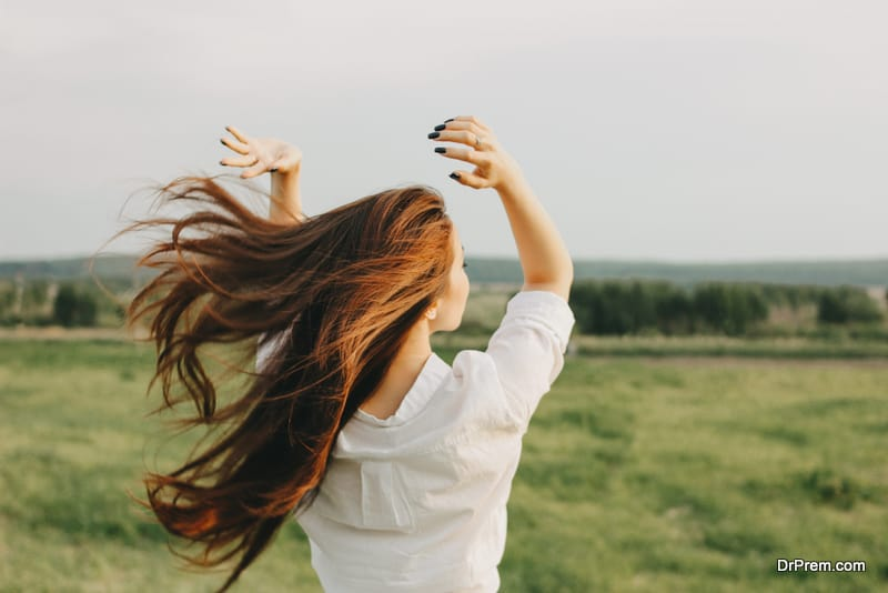 woman feeling more mindful