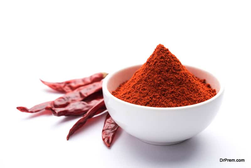 Storing spices like red chili powder in the freezer
