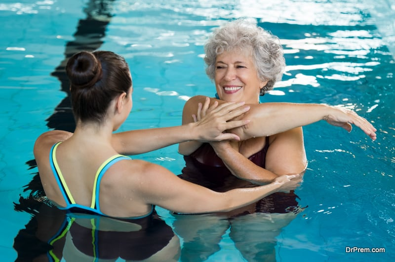 senior woman joined personalized annual wellness program