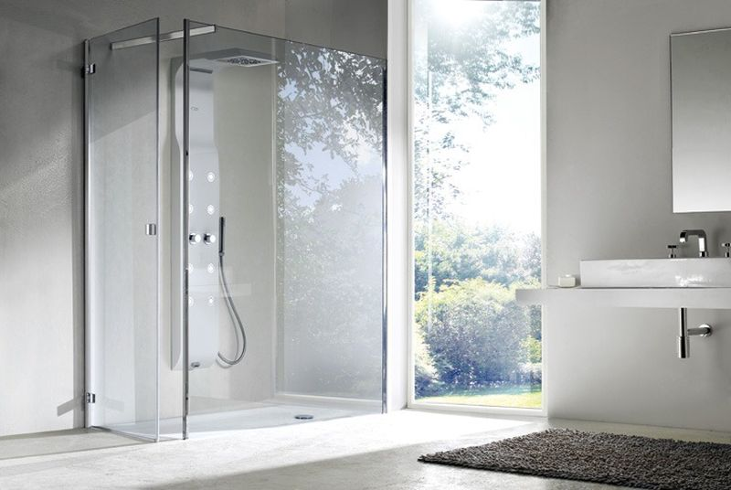 Frameless-shower-cabins