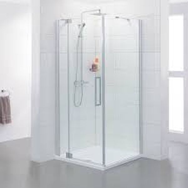 Frameless shower cabins