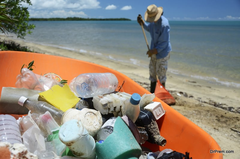 Landfills and oceans are filled with plastic bottles