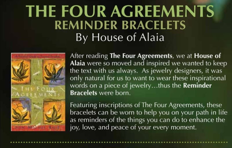 The Four Agreements written by Don Miguel Ruiz