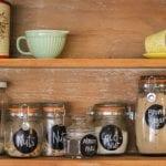 organize a minimalist pantry