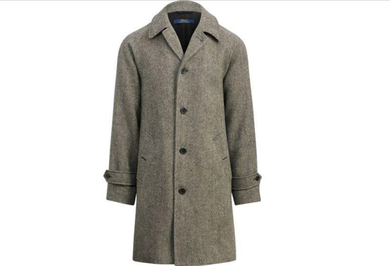 Polo Ralph Lauren herringbone tweed topcoat