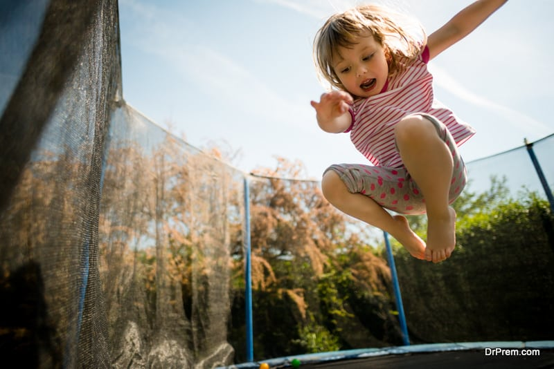Jumping-on-the-trampoline