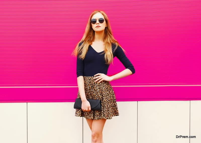 Leopard midi skirts