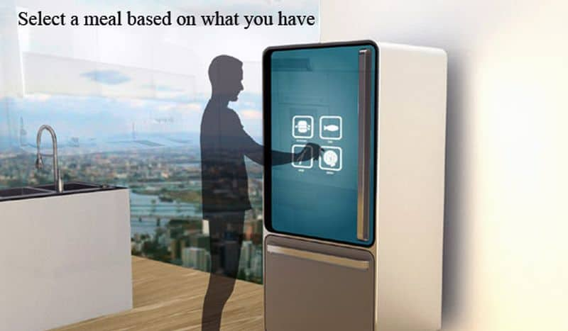 Concept Refrigerator for healthy meals by Ashley Legg