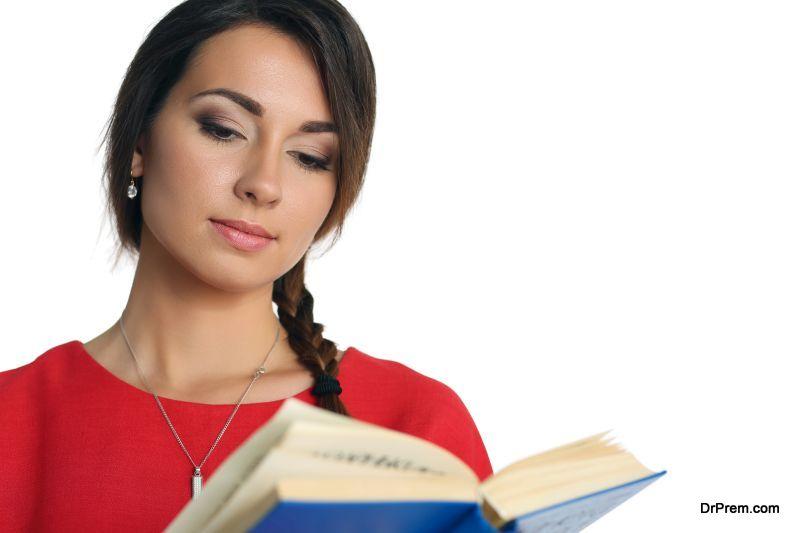 reading self-help book