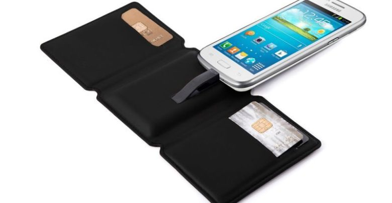 A phone-charging wallet