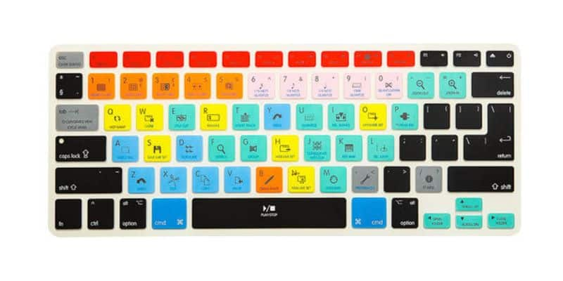 A shortcut cover for keyboard