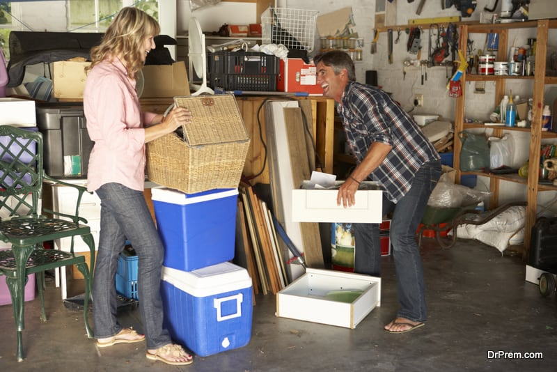 Check unused things stacked in closets and garages