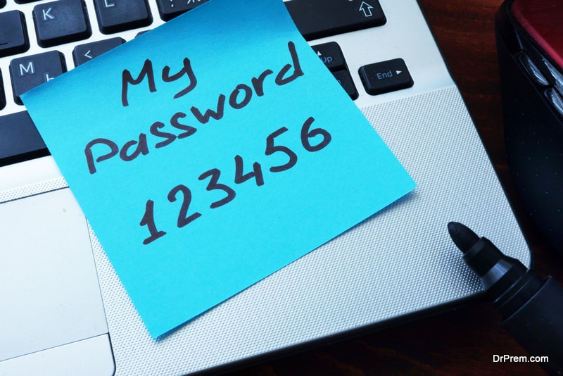 Keep a hard copy of your passwords