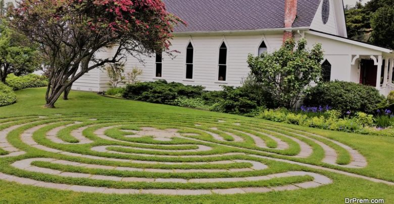 make a maze in your backyard
