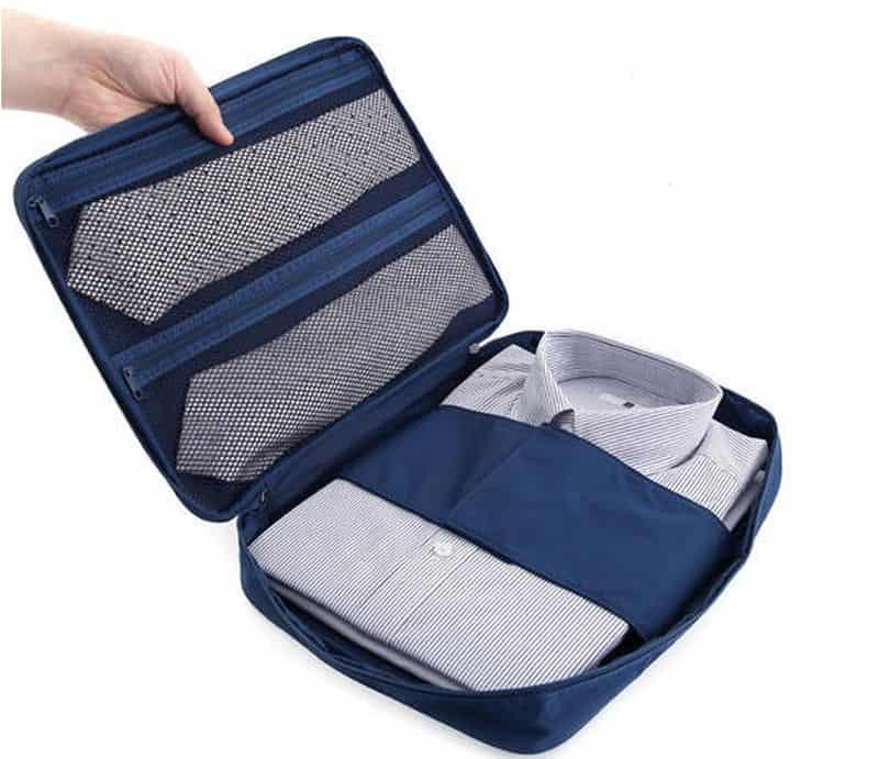 tie and shirt travel organizer
