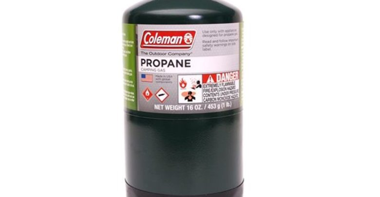 Coleman propane fuel canister