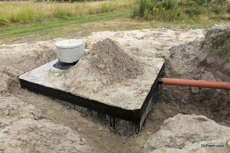 Set up septic system