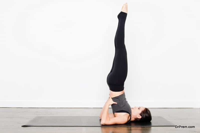 Sarvangasana or shoulder stand