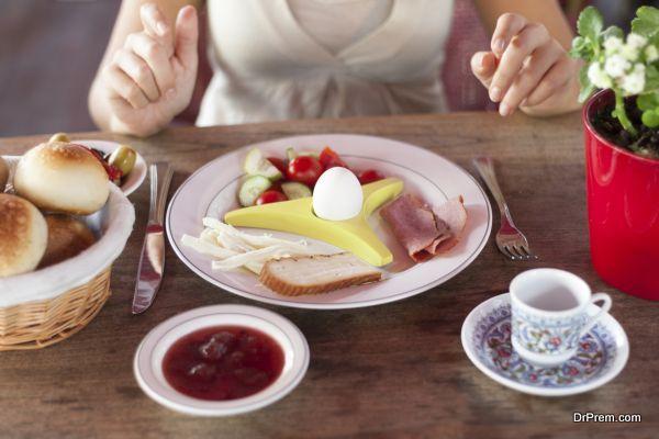 Eggs in breakfast