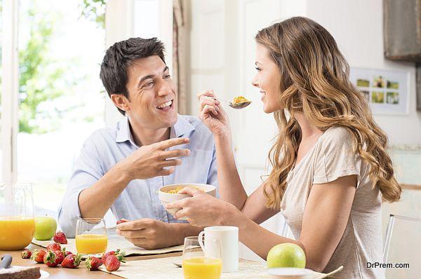Couple Enjoying Breakfast