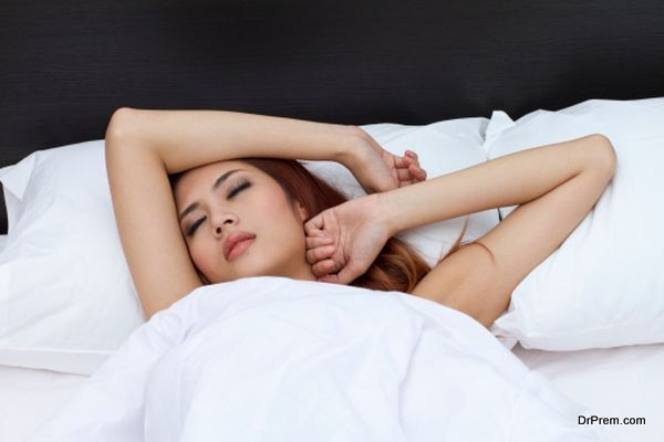 restless sleeping woman