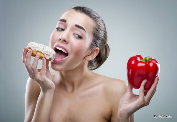 Women's diet. Donut or bell peppers ?