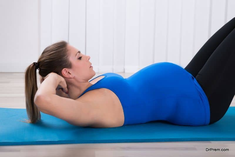 Pregnant Woman Doing Workout