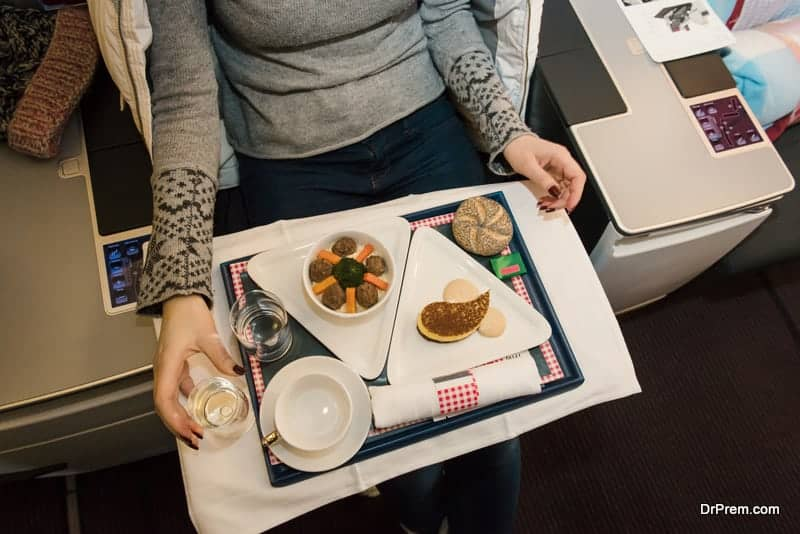 Airplane food allergy attack