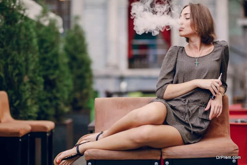 E-cigarette-vapor