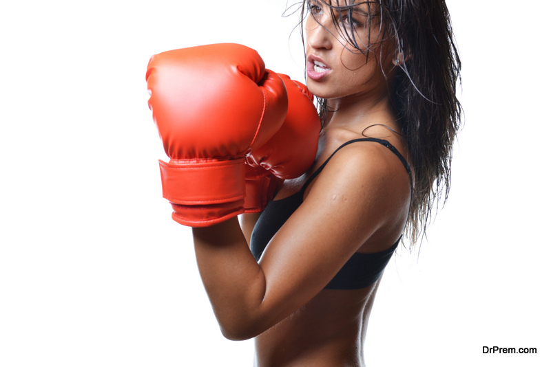 Boxing training at home