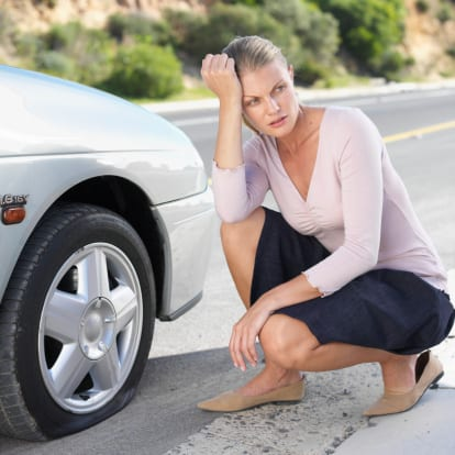 How to deal with a flat tire