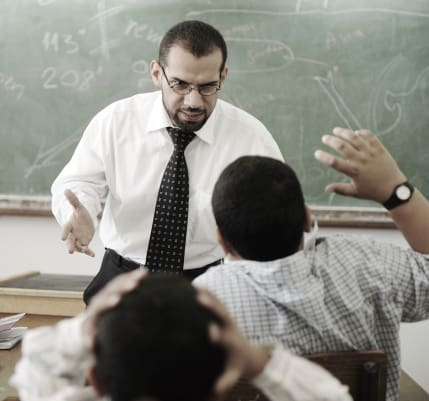 How to deal with an overtly disciplined teacher