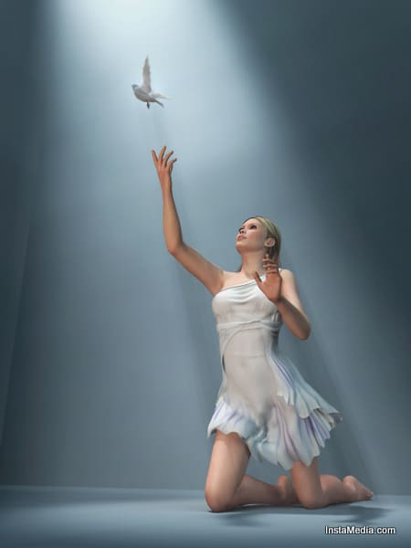 Girl And a Bird