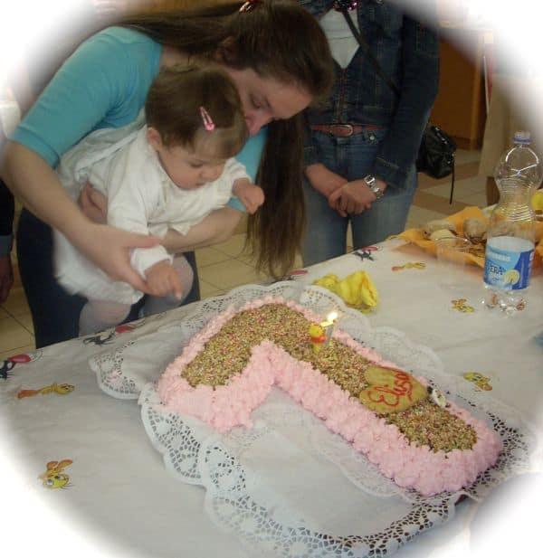 Baby Celebrating Her First Birthday