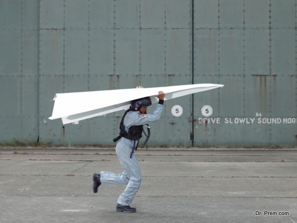 Man With Paper Aeroplane
