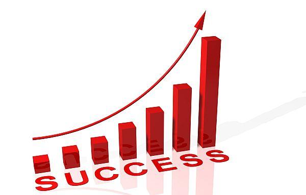 Red Success Illustation