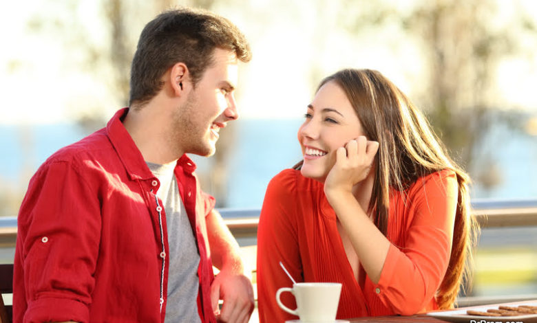 body language signs that humans use while flirting