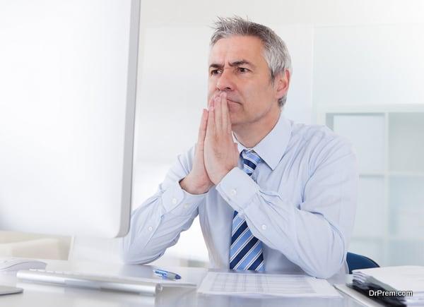 Mature Businessman Thinking