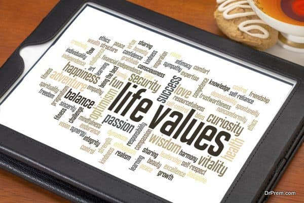 role of values in life