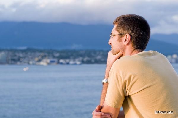 Man Thinking at Twilight