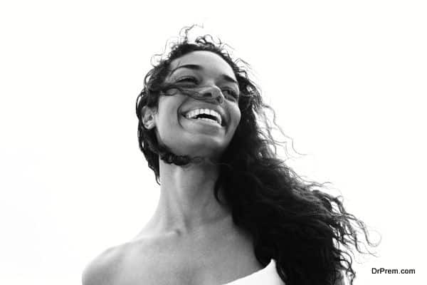 laughing woman portrait